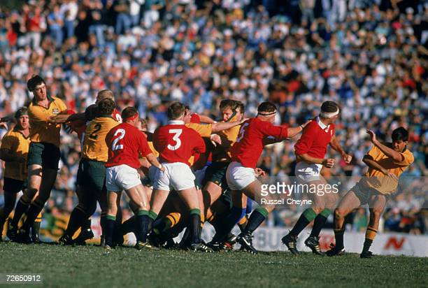 An altercation during the third test of the Lions Tour of Australia 15th July 1989 England won the match 1918