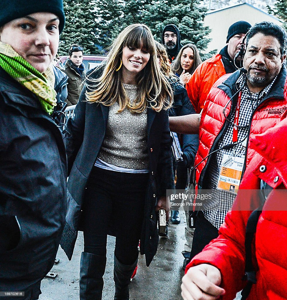 An alternate view of actress Jessica Biel attending the 'Emanuel And The Truth About Fishes' Premiere the during the 2013 Sundance Film Festival on January 18, 2013 in Park City, Utah.