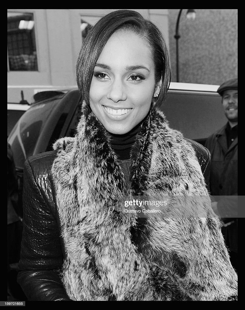 An alternate view of Alicia Keys during the 2013 Sundance Film Festival on January 18, 2013 in Park City, Utah.