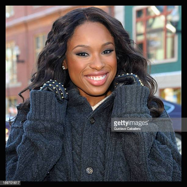 An alternate view of Jennifer Hudson during the 2013 Sundance Film Festival on January 18 2013 in Park City Utah