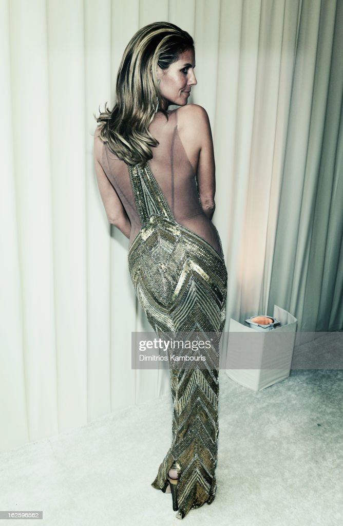 An alternate view of model Heidi Klum at the 21st Annual Elton John AIDS Foundation Academy Awards Viewing Party at West Hollywood Park on February 24, 2013 in West Hollywood, California.