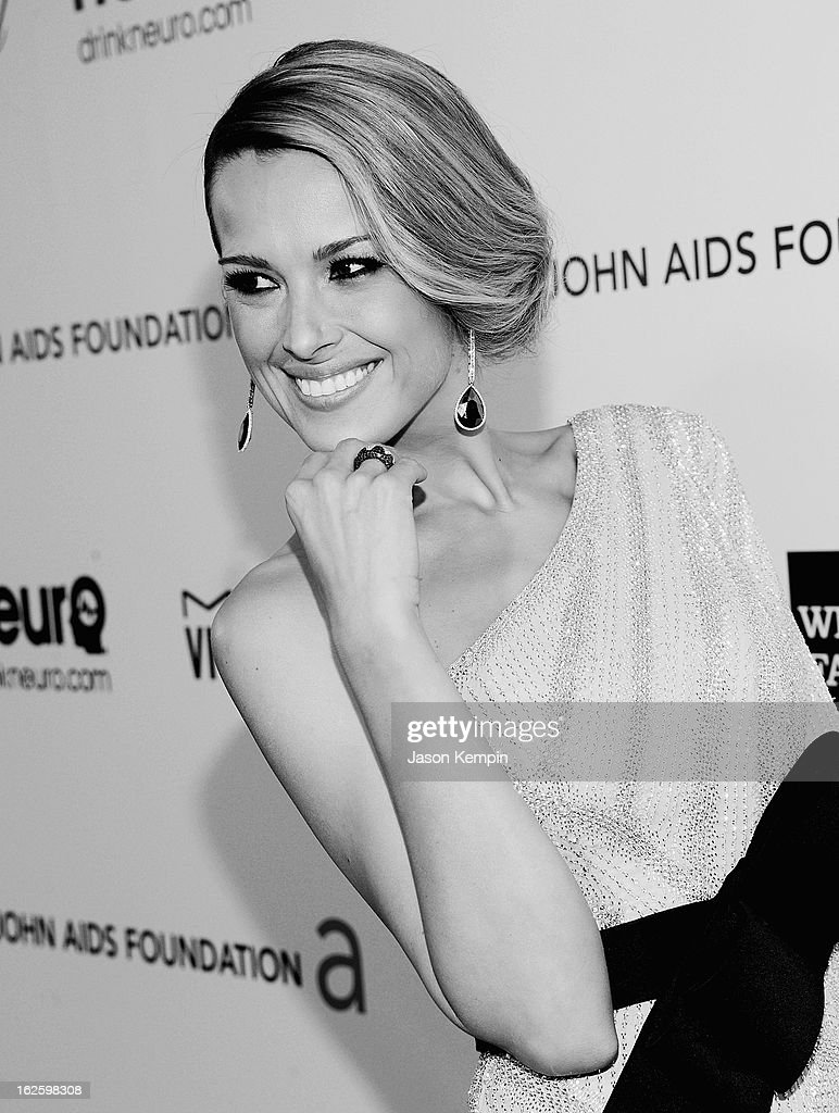 An alternate view of model Petra Nemcova at the 21st Annual Elton John AIDS Foundation Academy Awards Viewing Party at West Hollywood Park on February 24, 2013 in West Hollywood, California.