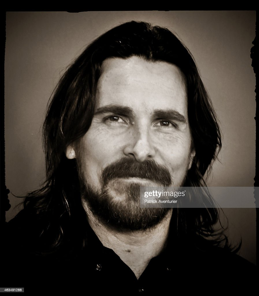 An alternative portrait of actor Christian Bale during the 65th Berlinale International Film Festival on February 9 2015 in Berlin Germany