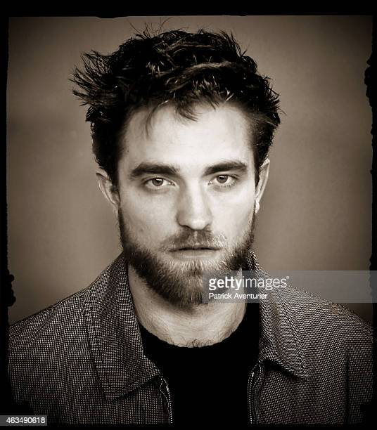 An alternative portrait of actor Robert Pattinson during the 65th Berlinale International Film Festival on February 9 2015 in Berlin Germany