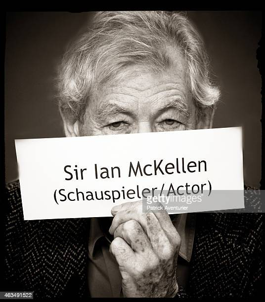 An alternative portrait of actor Sir Ian McKellen during the 65th Berlinale International Film Festival on February 9 2015 in Berlin Germany