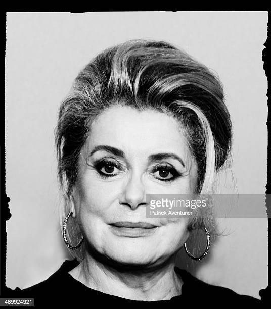 An alternative portrait of actress Catherine Deneuve during the 64th Berlinale International Film Festival on February 6 2014 in Berlin Germany