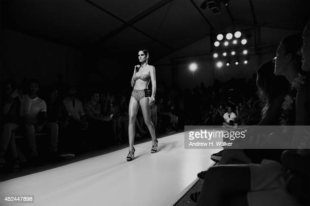 An alternative view around MercedesBenz Fashion Week Swim 2015 at The Raleigh on July 20 2014 in Miami Beach Florida