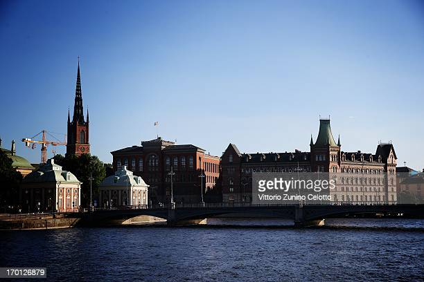 An alternative view around the city as preparartions continue before the wedding of Princess Madeleine of Sweden and Christopher O'Neill on June 7...