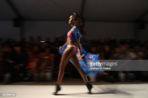 An alternative view at the Beach Bunny Featuring The Blonds show during MercedesBenz Fashion Week Swim 2015 at The Raleigh on July 18 2014 in Miami...