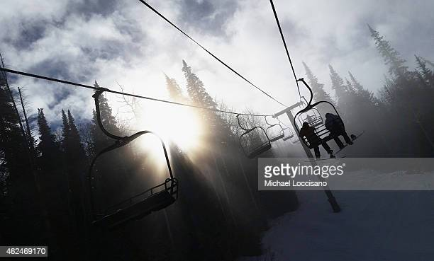 An alternative view from the town lift at Park City Mountain Resort during the 2015 Sundance Film Festival on January 28 2015 in Park City Utah