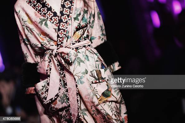An alternative view of a fashion detail at the Gucci show on June 22 2015 in Milan Italy
