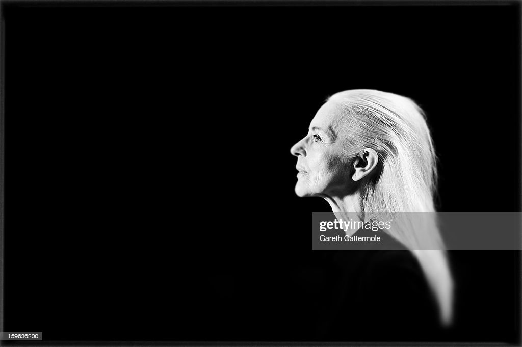 An alternative view of a model on the runway during rehearsals ahead of A Degree Fahrenheit Presented By Mercedes-Benz And Elle Autumn/Winter 2013/14 fashion show at the Mercedes-Benz Fashion Week Berlin at the Brandenburg Gate on January 17, 2013 in Berlin, Germany.