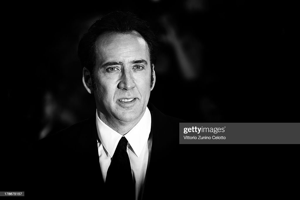 An alternative view of actor <a gi-track='captionPersonalityLinkClicked' href=/galleries/search?phrase=Nicolas+Cage&family=editorial&specificpeople=196531 ng-click='$event.stopPropagation()'>Nicolas Cage</a> who attends the 'Joe' Premiere during the 70th Venice International Film Festival on August 30, 2013 in Venice, Italy.