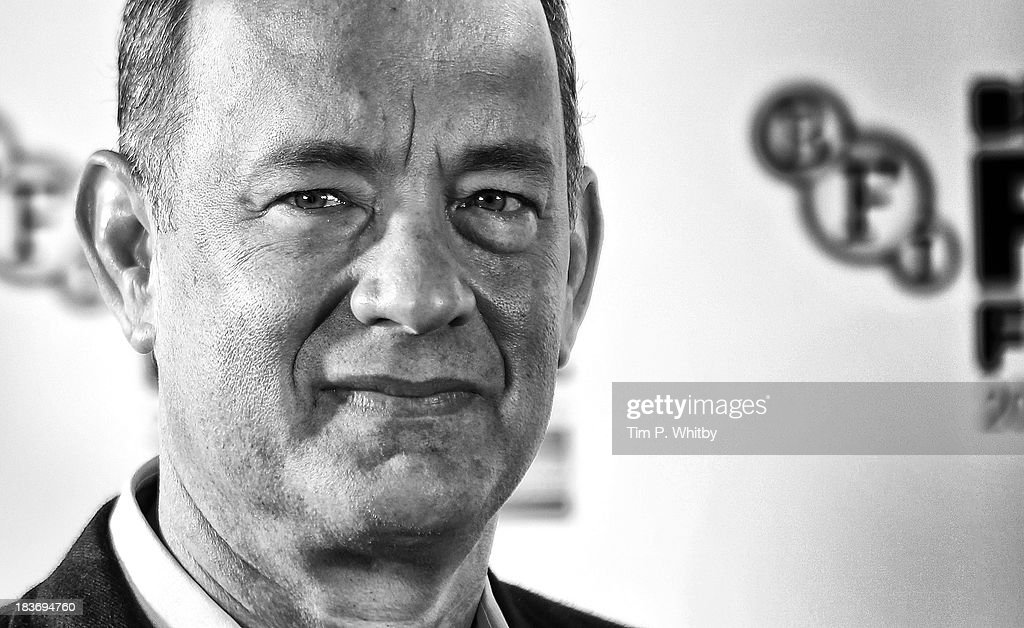 An Alternative View of actor <a gi-track='captionPersonalityLinkClicked' href=/galleries/search?phrase=Tom+Hanks&family=editorial&specificpeople=201790 ng-click='$event.stopPropagation()'>Tom Hanks</a> as he attends the photocall for 'Captain Phillips' during the 57th BFI London Film Festival at on October 9, 2013 in London, England.