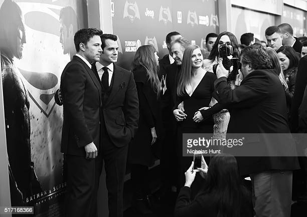 An Alternative View Of Actors Ben Affleck Henry Cavill attends The 'Batman V Superman Dawn Of Justice' New York Premiere at Radio City Music Hall on...