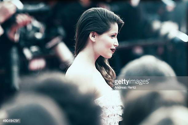 An alternative view of actress Laetitia Casta at the Opening ceremony and the 'Grace of Monaco' Premiere during the 67th Annual Cannes Film Festival...