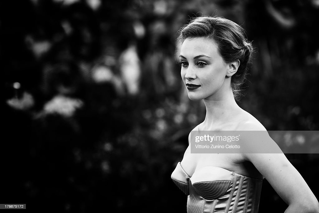 An alternative view of actress Sarah Gadon who attends the 'Joe' Premiere during the 70th Venice International Film Festival on August 30, 2013 in Venice, Italy.
