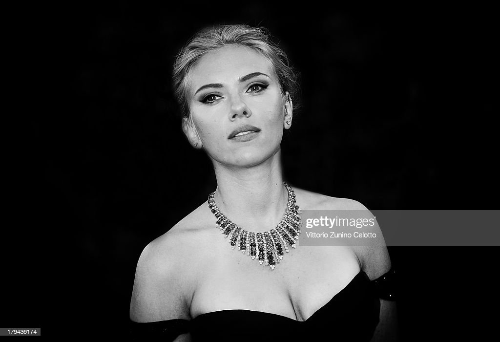 An alternative view of actress <a gi-track='captionPersonalityLinkClicked' href=/galleries/search?phrase=Scarlett+Johansson&family=editorial&specificpeople=171858 ng-click='$event.stopPropagation()'>Scarlett Johansson</a> as she attends the 'Under The Skin' Premiere during the 70th Venice International Film Festival on September 3, 2013 in Venice, Italy.