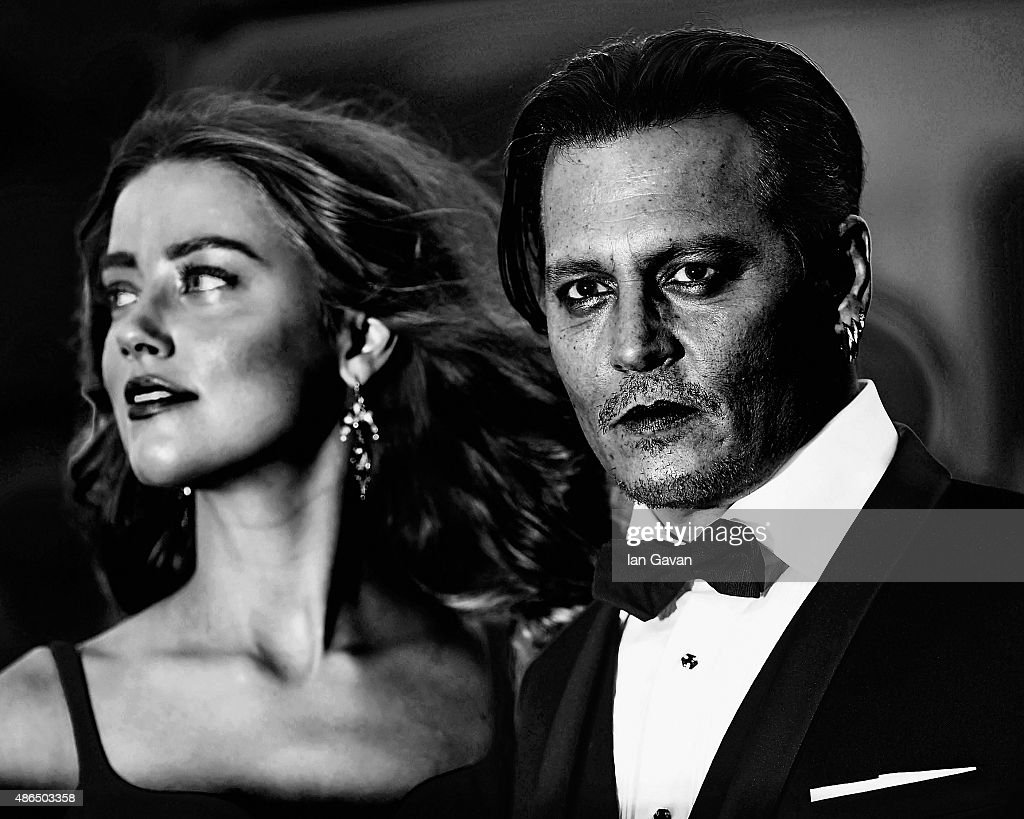 An alternative view of Amber Heard and Johnny Depp during the 72nd Venice Film Festival on September 4, 2015 in Venice, Italy.