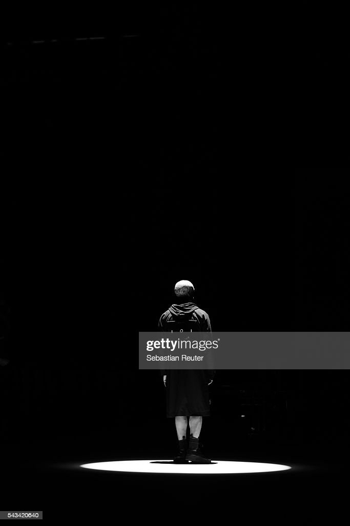 An alternative view of an artist at rehearsal before the Odeur show during the Mercedes-Benz Fashion Week Berlin Spring/Summer 2017 at Erika Hess Eisstadion on June 28, 2016 in Berlin, Germany.