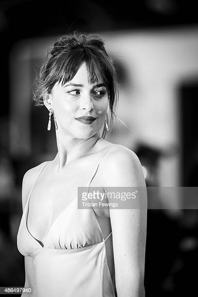 An alternative view of Dakota Johnson as they attend a premiere for 'Black Mass' during the 72nd Venice Film Festival at on September 4 2015 in...