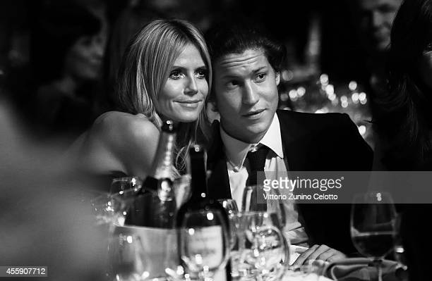 An alternative view of Heidi Klum and Vito Schnabel at amfAR's Milano 2014 duirng the Milan Fashion Week Womenswear Spring/Summer 2015 on September...