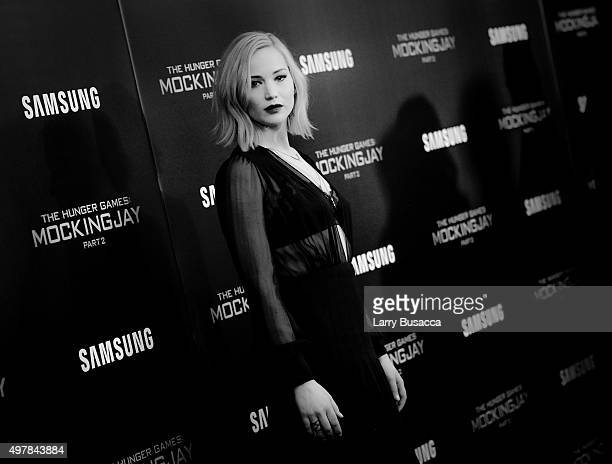 An alternative view of Jennifer Lawrence During the Premiere of Hunger Games MockingjayPart 2 at AMC Loews Lincoln Square 13 theater on November 18...