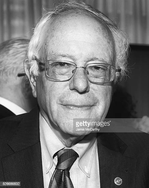 An alternative view of Senator Bernie Sanders at the 102nd White House Correspondents' Association Dinner Weekend on April 30 2016 in Washington DC