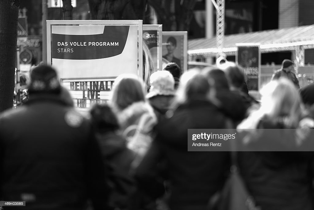 An alternative view of the 64th Berlinale International Film Festival on February 14, 2014 in Berlin, Germany.