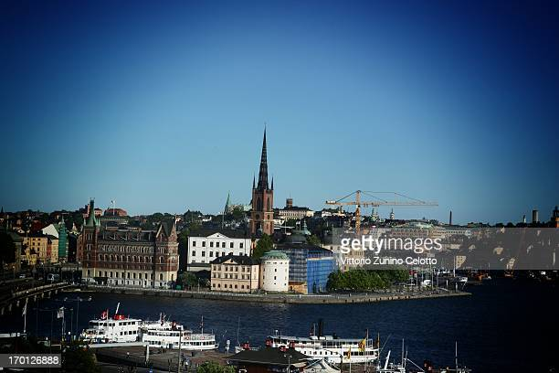An alternative view of the city skyline as preparartions continue before the wedding of Princess Madeleine of Sweden and Christopher O'Neill on June...