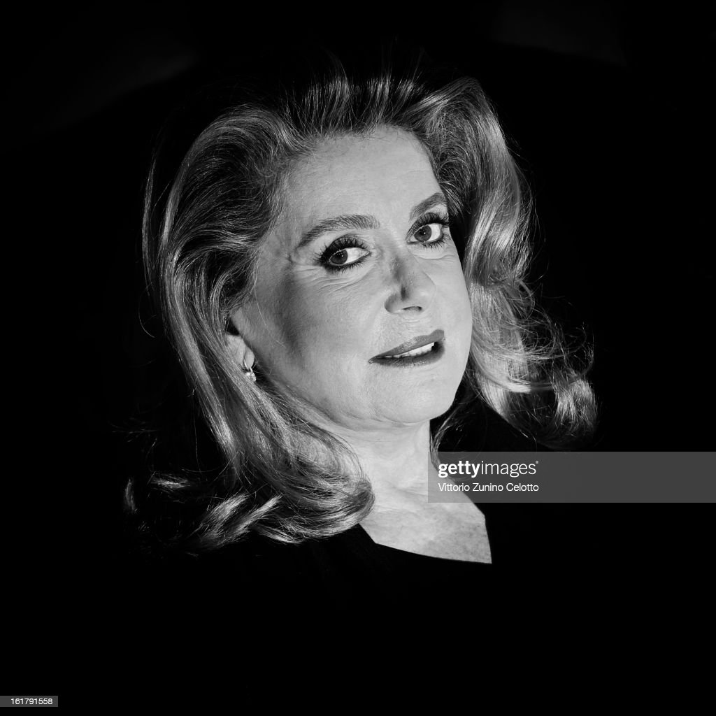 An Alternative view on actress <a gi-track='captionPersonalityLinkClicked' href=/galleries/search?phrase=Catherine+Deneuve&family=editorial&specificpeople=123833 ng-click='$event.stopPropagation()'>Catherine Deneuve</a> at the 'On My Way' Premiere during the 63rd Berlinale International Film Festival at Berlinale Palast on February 15, 2013 in Berlin, Germany.