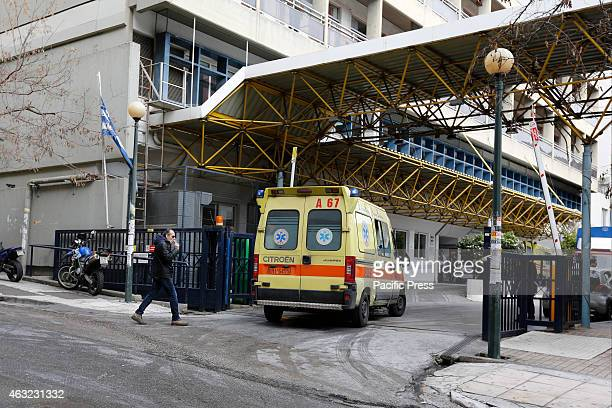 An ambulance arrives at the Evangelismos Hospital in Athens which is Greeces biggest hospital The Greek health care sector is in decline since the...