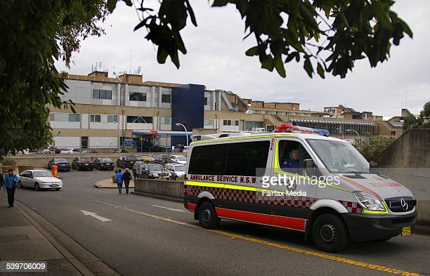 An ambulance drives away from Westmead Hospital Sydney Westmead will be implementing a dropping zone for ambulances