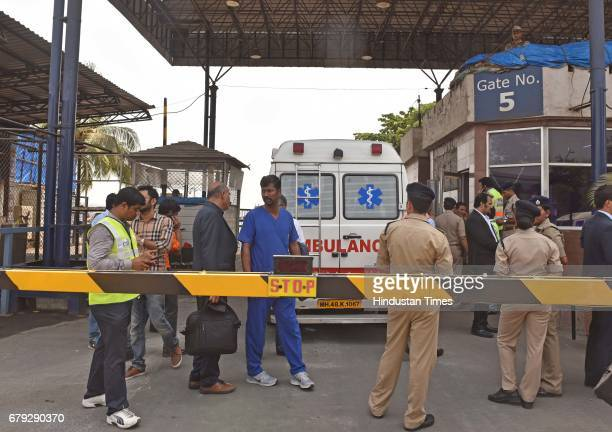 An ambulance which carries Eman Ahmed to the airport at Cargo Andheri on May 4 2017 in Mumbai India Eman Ahmed the Egyptian national who was believed...