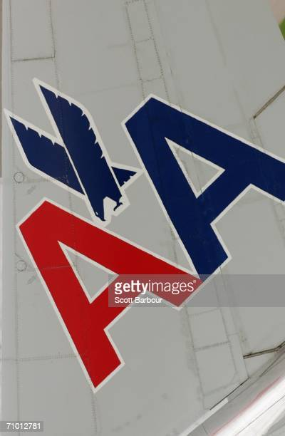 An American Airlines aircraft taxis down the runway at London Heathrow Airport on May 18 2006 in London England Heathrow consists of four passenger...