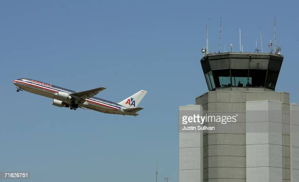 An American Airlines jet plane takes off from San Francisco International Airport August 10 2006 in San Francisco The Department of Homeland Security...