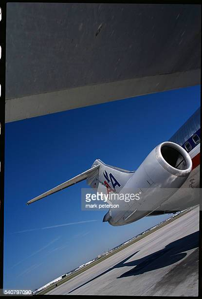 An American Airlines plane sits on the tarmac at San Antonio International Airport