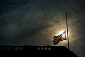 An American flag flies at halfstaff over Russell Building in honor of those who perished in the Brussels terrorist attacks March 24 2016 Flags will...