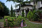 An American flag is seen outside the home of Seddique Mateen father of Pulse nightclub shooter Omar Mateen on June 14 2016 in Port St Lucie Florida...
