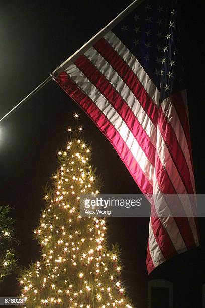 usa background with front christmas balls flag holiday illustration stock light card american lights of download photos