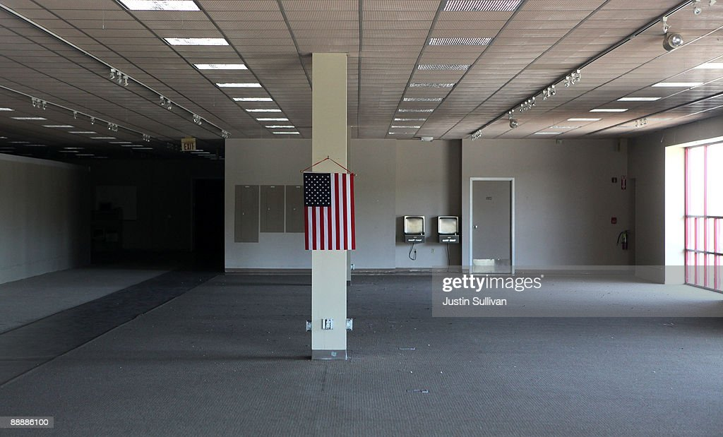 An American Flag Remains Inside A Closed Levitz Furniture Store July 7,  2009 In Rohnert