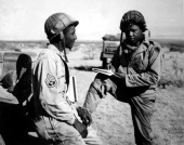An American Red Cross Field Director upon arrival North Africa 1945