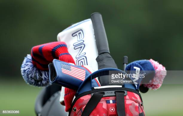 An American team golf bag during the 2017 Ping Junior Solheim Cup matches at the Des Moines Golf Country Club on August 16 2017 in West Des Moines...