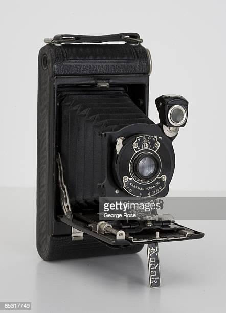 An Americanmade Eastman Kodak No 1 Folding Pocket camera is seen in this 2009 Healdsburg California studio photo