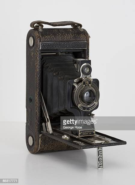 An Americanmade Eastman Kodak No 1A Folding Autographic Junior camera is seen in this 2009 Healdsburg California studio photo