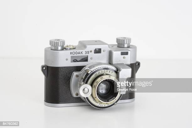 An Americanmade Kodak '35' 35mm roll film rangefinder camera with an Angstigmat 'special' 50mm f35 lens is seen in this 2009 Healdsburg California...