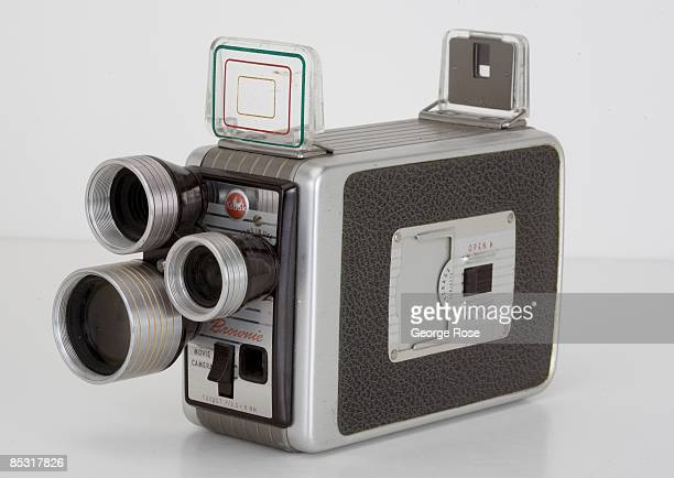 An Americanmade Kodak Brownie 'Turret' 8mm movie camera is seen in this 2009 Healdsburg California studio photo
