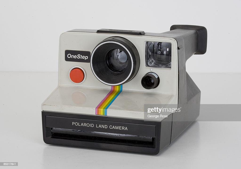 An American-made Polaroid One Step instant film camera (circa 1980s) is seen in this 2009 Healdsburg, California, studio photo.