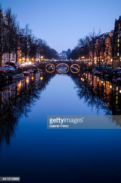 An Amsterdam Canal At The Blue Hour