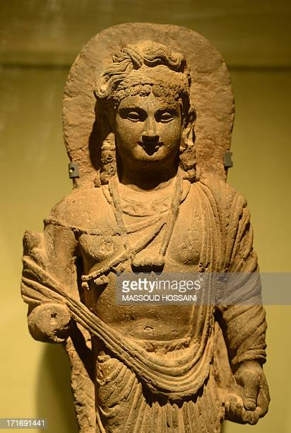 An ancient Buddha statue is displayed in Kabul museum in Kabul on June 28 2013 The sculptures which had been destroyed by Islamists during the...